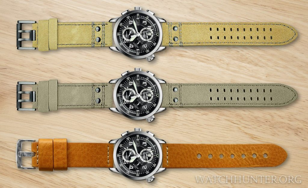 Victorinox Swiss Army Airboss Mach 8 on digital leather watch bands