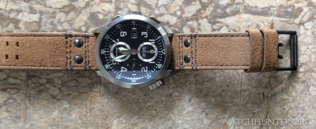 The 23mm brown suede Luminox Atacama band was nice, but I ultimately used it for a different watch