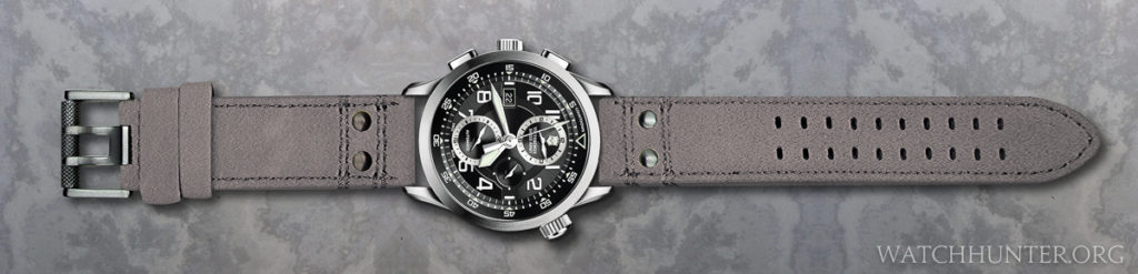 Victorinox Swiss Army Airboss Mach 8 on Luminox gray suede 23 mm watch band