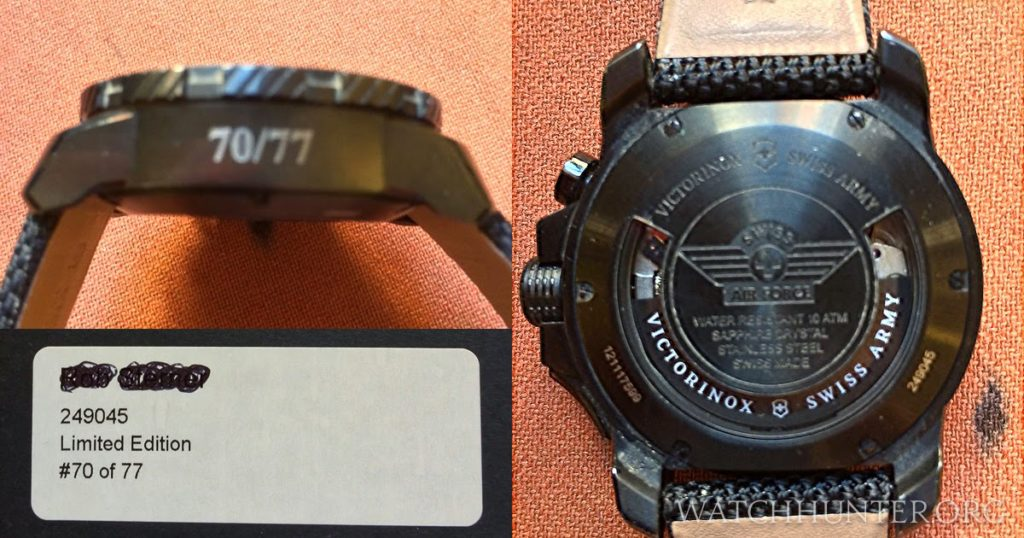 The limited edition number appears on the side of the case instead of on the back. A special model number is added.