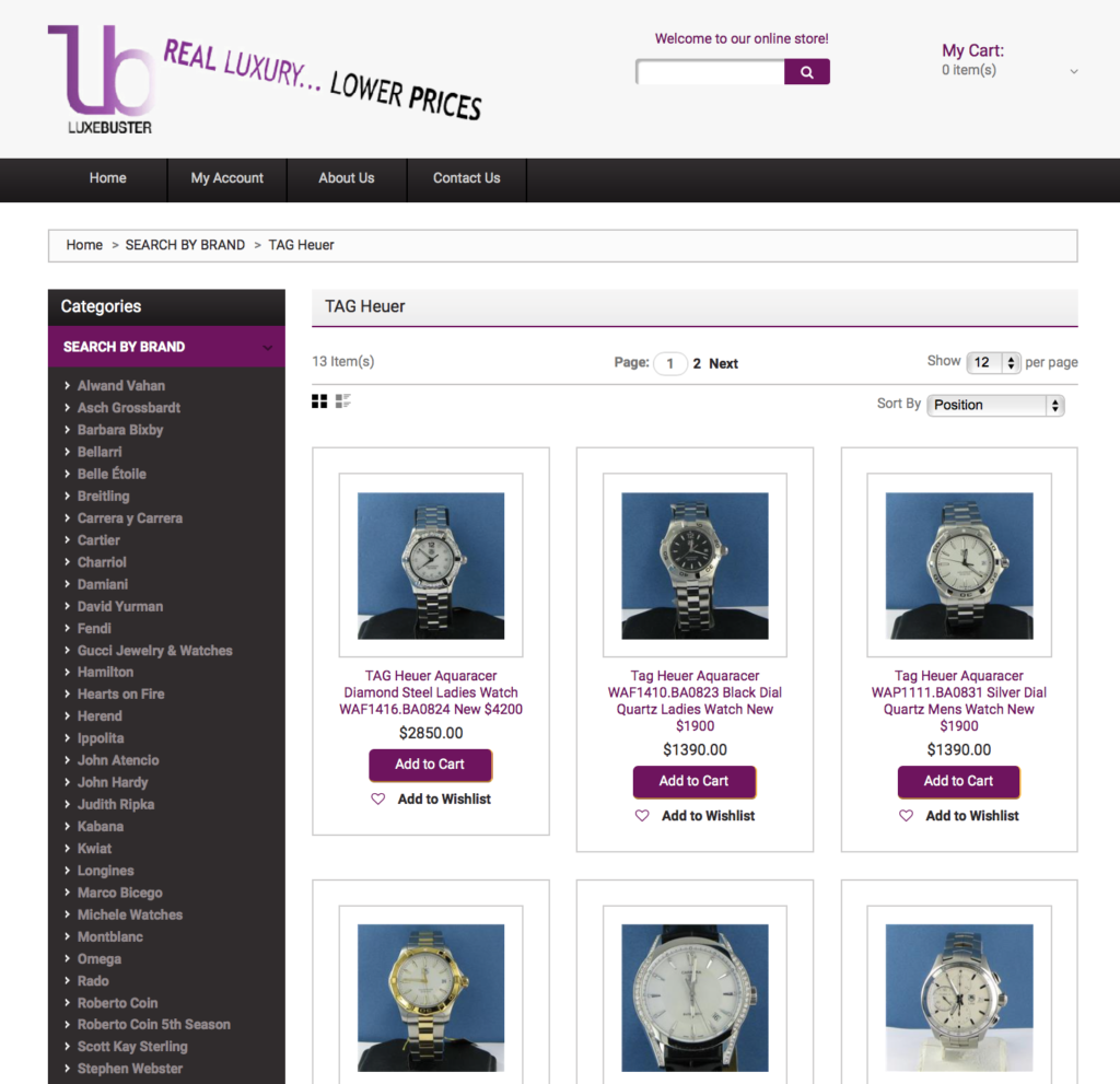 Luxebuster web site