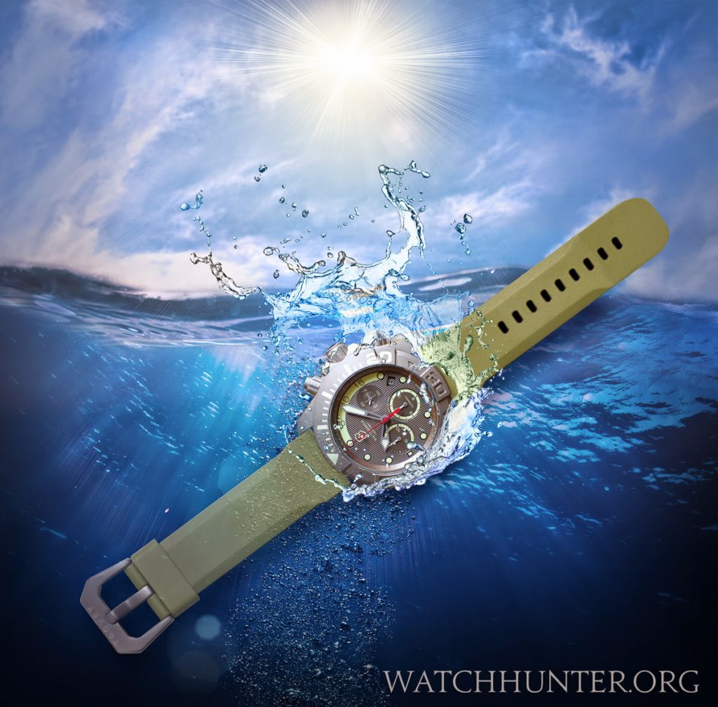 Victorinox Swiss Army Dive Master 500 Fantasy Concept with Tsovet Olive Dive Band with Gun Metal Buckle