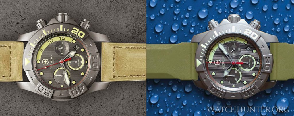 Changing a watch band can drastically alter the character of a watch as shown in this comparison
