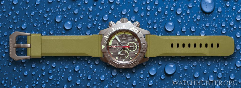 Digital Rendering ofVictorinox Swiss Army Dive Master 500 Titanium LE + rubber Tsovet Strap