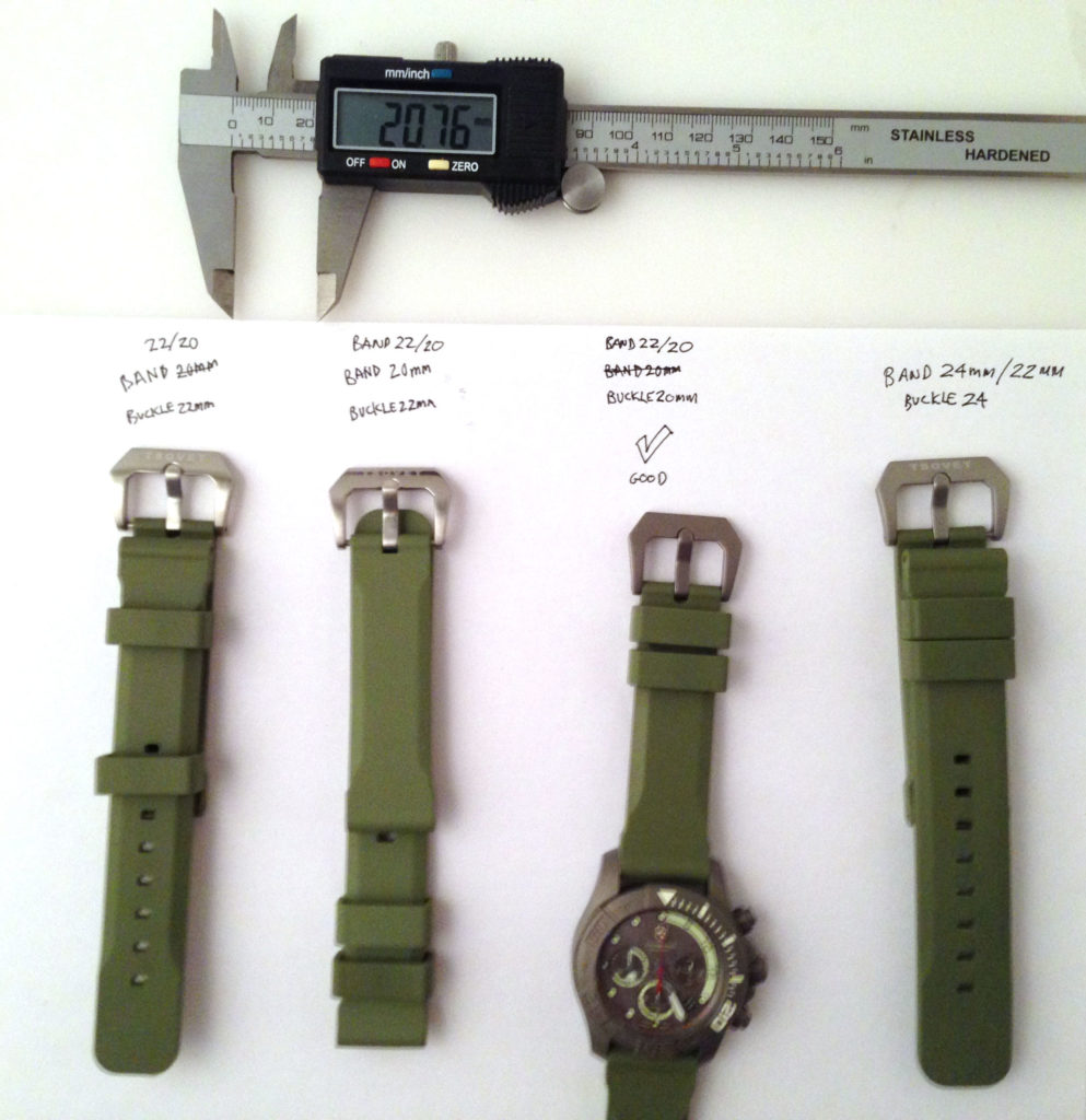 This photo is what I sent to Tsovet to explain what I received. The tapered bands confused both of us.
