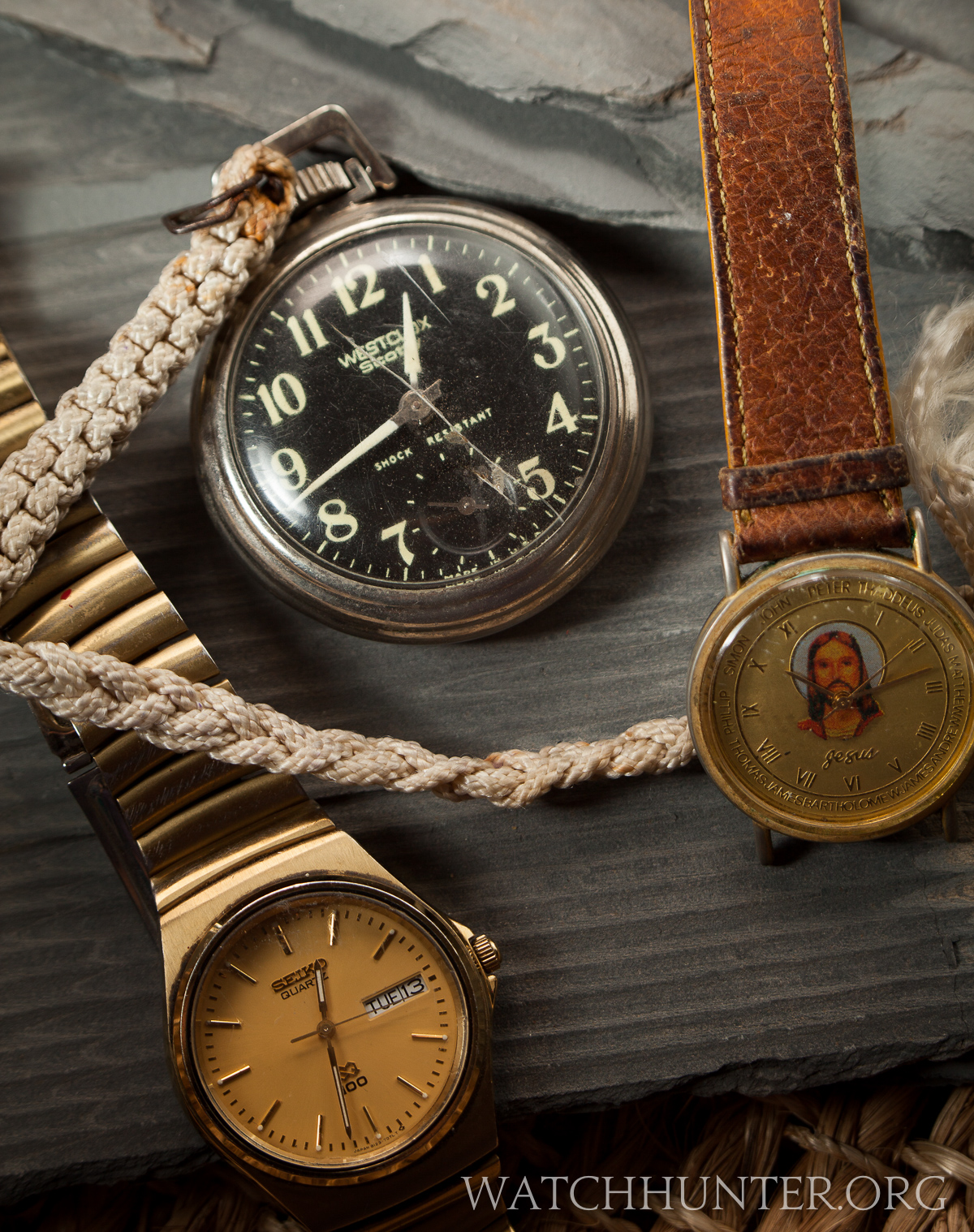 A baggy of watches from secret watch graveyard
