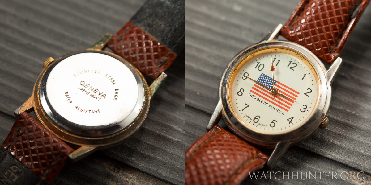 This is one confusing watch with Geneva, Japan Movt and Gold Bless America
