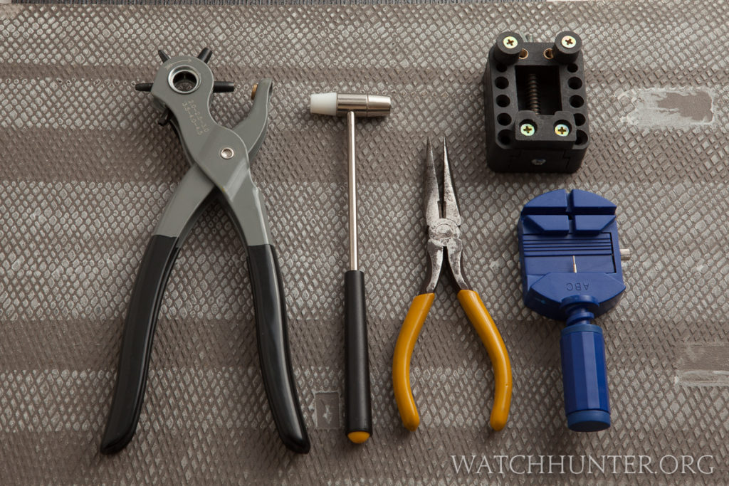 Even having the most basic of watch tools can make changing a watch band easier.
