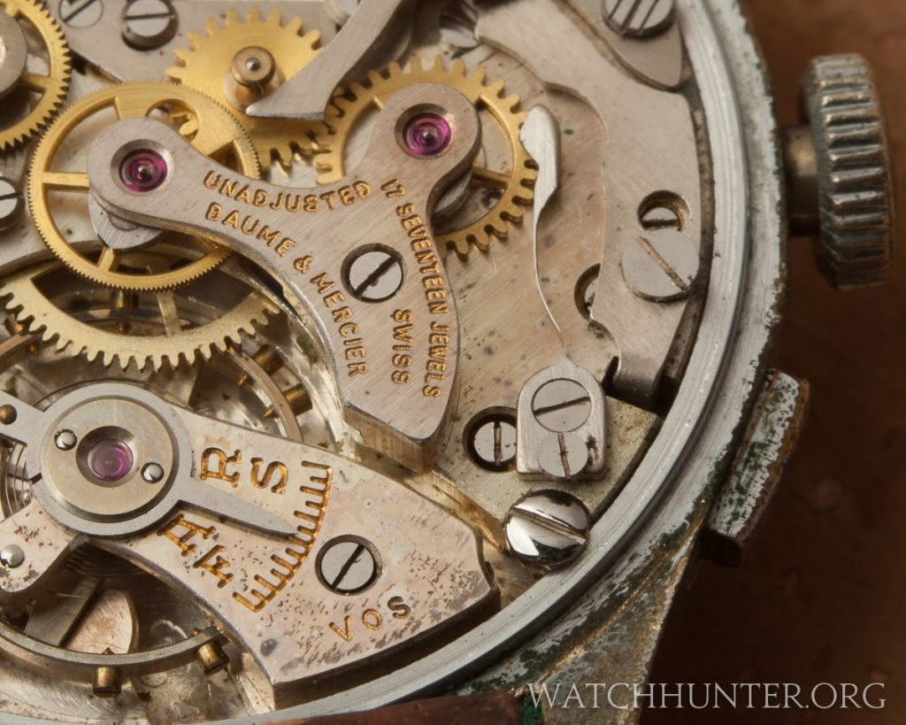 Gilt lettering and rubies make this movement look like a treasure to me