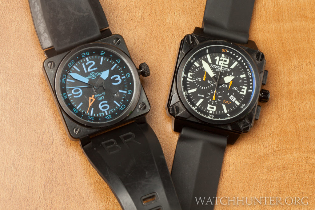 A Bell & Ross BR-03 GMT replica and the Torgoen T2101 Chronograph