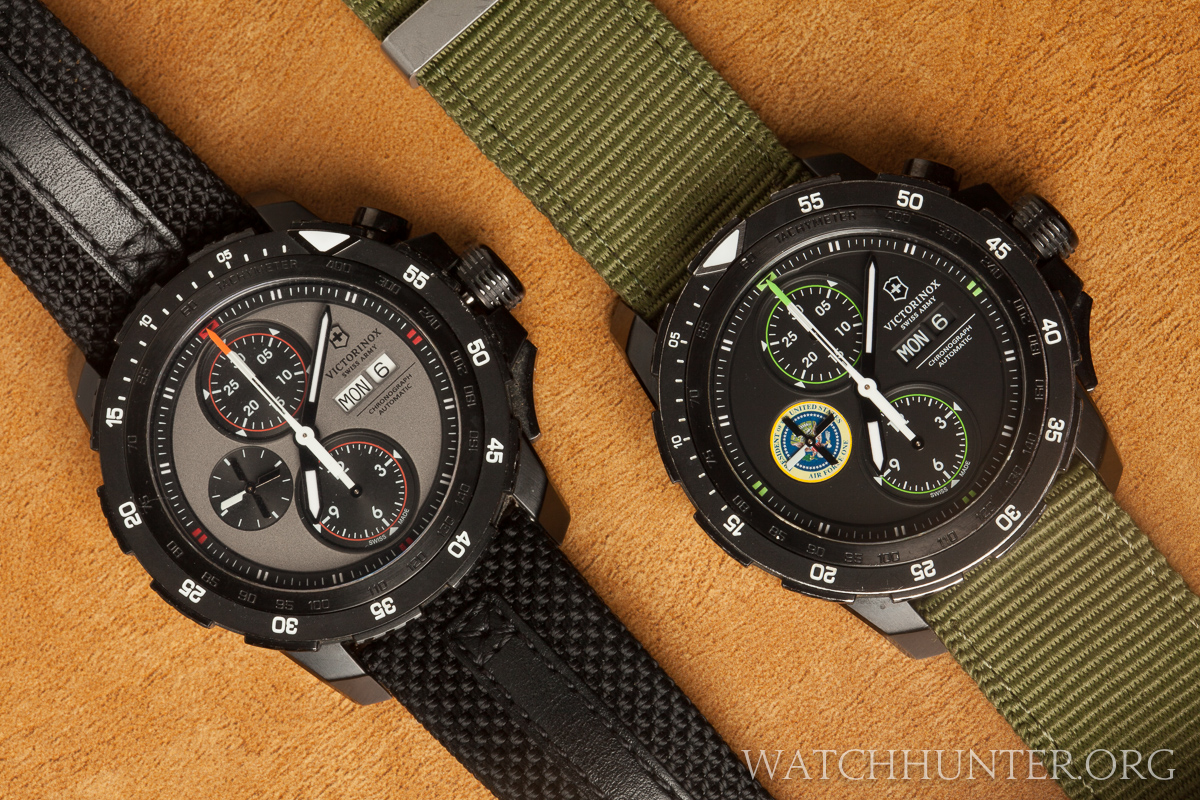 Heavy duty nylon bands complete the military look.