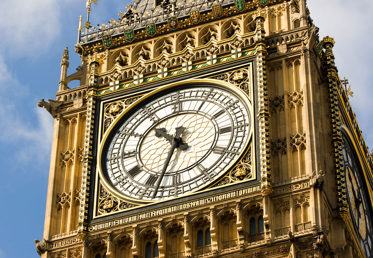 Even the round clock in Big Ben has a somewhat square housing