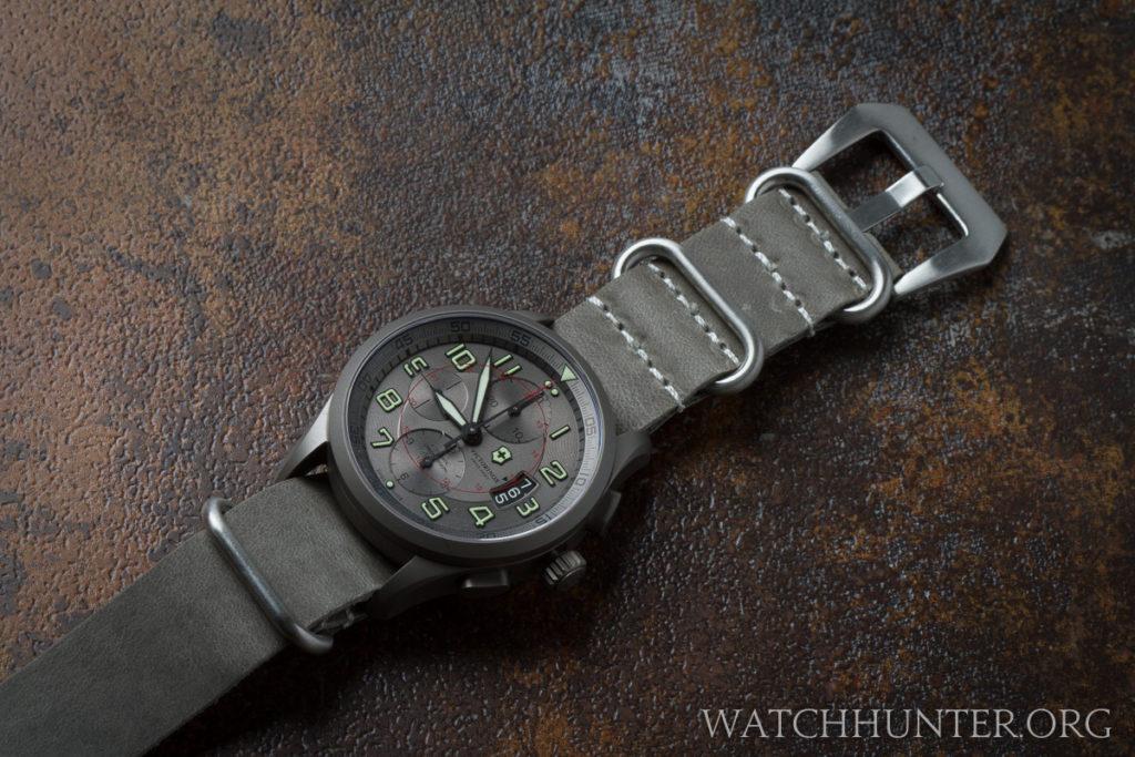 A gray NATO strap seems too similar to the gray titanium watch case