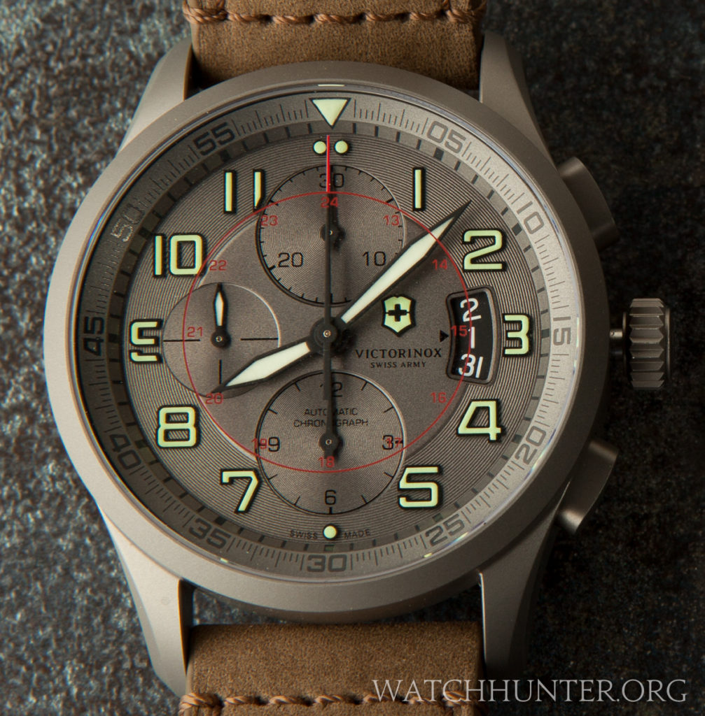 The Victorinox Swiss Army Airboss Titanium Chronograph 241599 is an amazing limited edition pilot watch