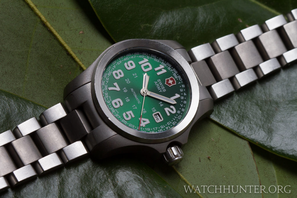 The dial of this limited edition Ground Force is even greener than real leaves