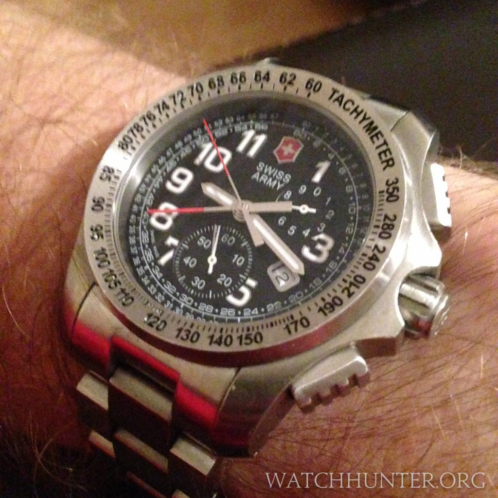 A quartz Swiss Army Ground Force Chronograph with a central chronograph
