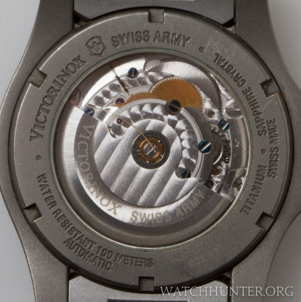 The decorated ETA 2824-2 movement. The limited edition number is hard to read, but it is #2