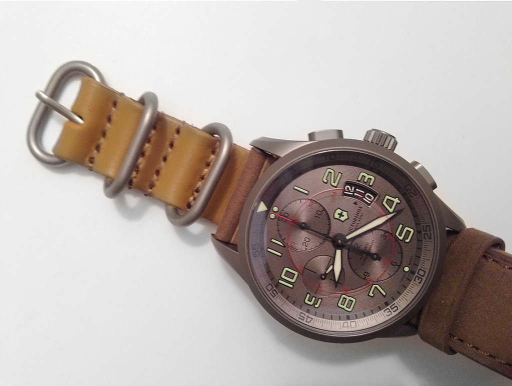 This tiny leather NATO strap looks silly but it was helpful to determine that a lighter color was needed