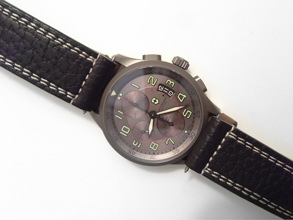 This watch band is from a Victorinox Swiss Army Alpnach Power Gauge Chronograph... another limited edition