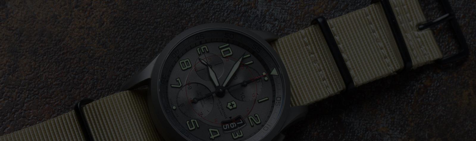 STRAP SWAP: Victorinox Swiss Army Airboss Titanium Chronograph Gets a Crown & Buckle
