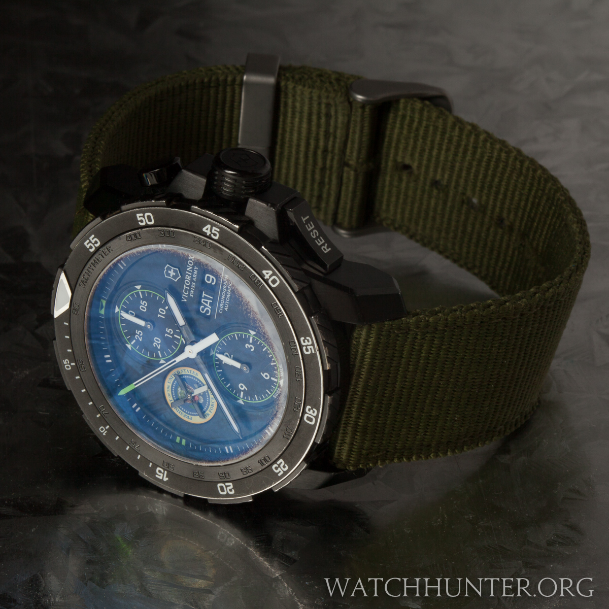 The state of the anti-reflectivce coating and PVD. You cannot see this on the wrist.