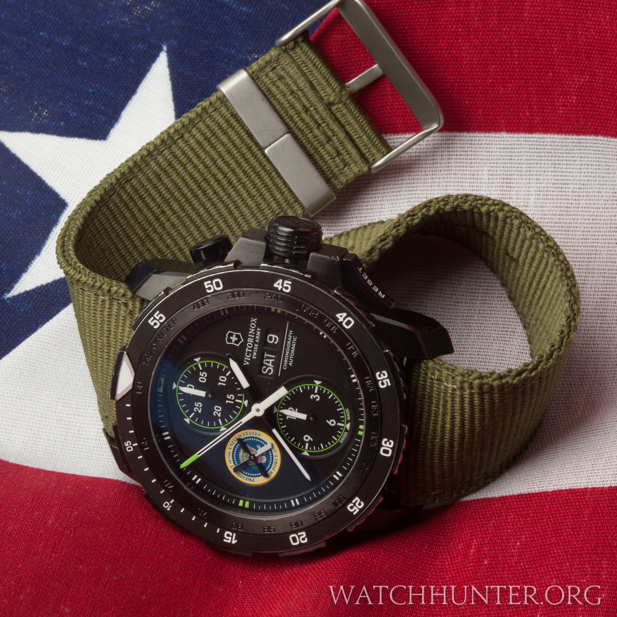 Swiss Army made a private edition watch for Air Force One. It shows the Air Force One / Presidential seal.