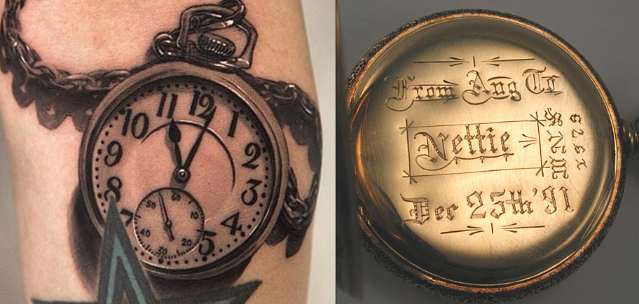 Watches are less permanent mementos than tattoos