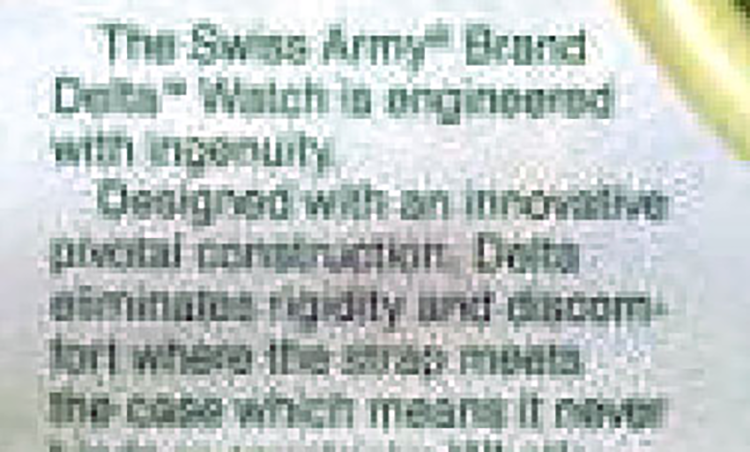The incredibly pixelated ad text identified the watch model. Can you read it?