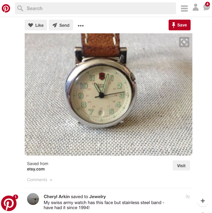 I visually matched the mystery watch on a Pinterest pin
