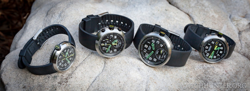 A family portrait of Victorinox Swiss Army SeaPlane watches