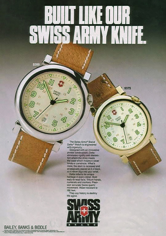 A Swiss Army print ad from the 1990s