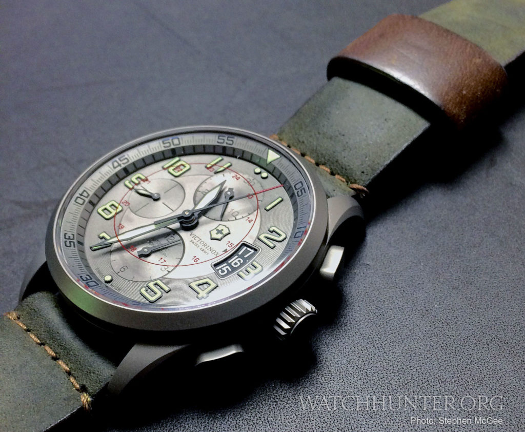 A Victorinox Swiss Army Airboss Titanium Chronograph. Photo: Stephen McGee