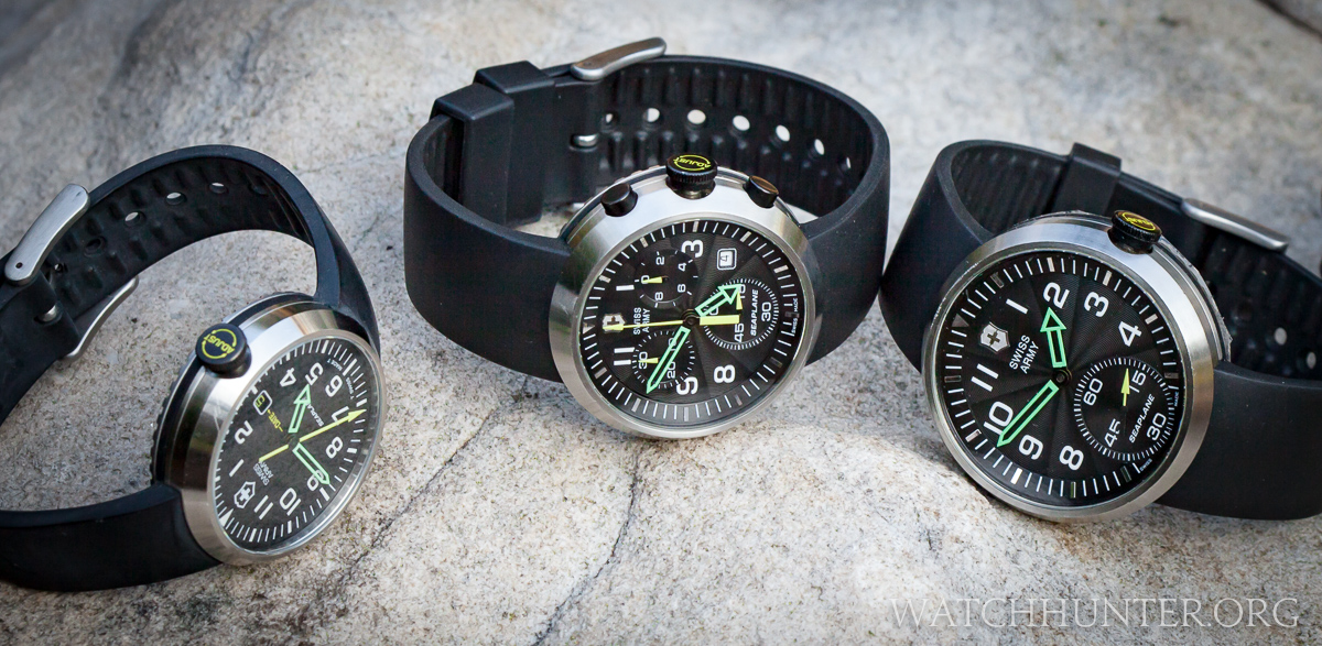 The SeaPlane Chronograph is part of a 5 watch SeaPlane family