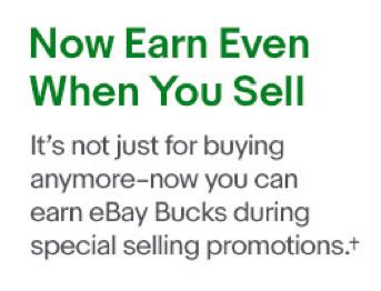 Now, potential eBay Bucks earned when selling