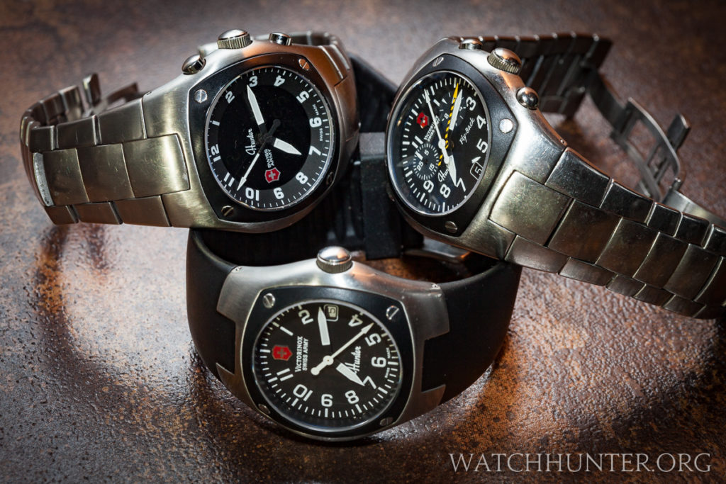 The Victorinox Swiss Army Hunter Mach 3, Mach 1 and Mach 2 from left to right.