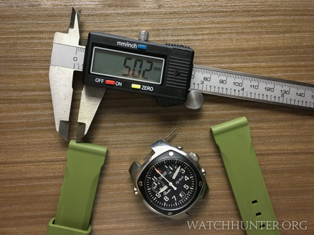 The olive green rubber watch bands from Tsovet were only $10 and have a great aesthetic.