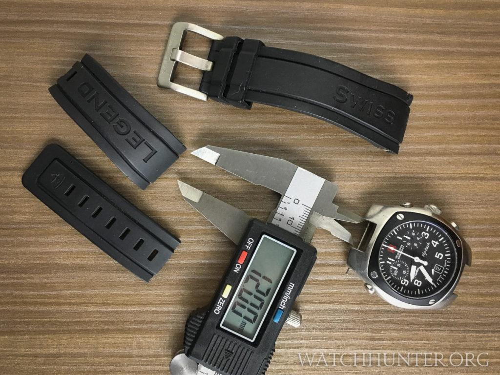 I salvaged some rubber watch bands from a broken Swiss Legend watch