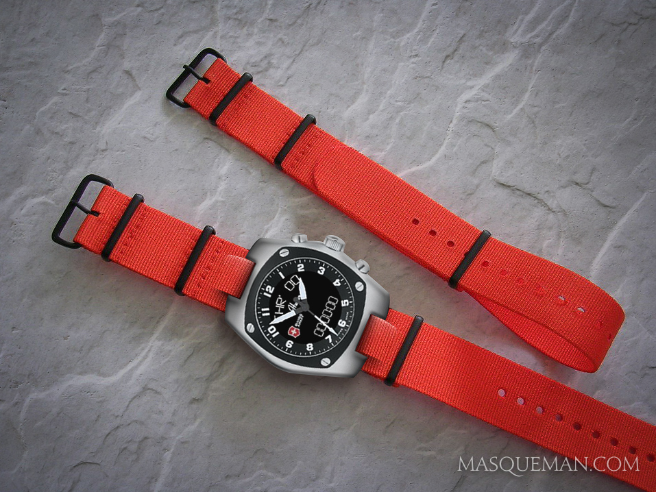 NATO straps are made of nylon and come in many different colors and hardware options.