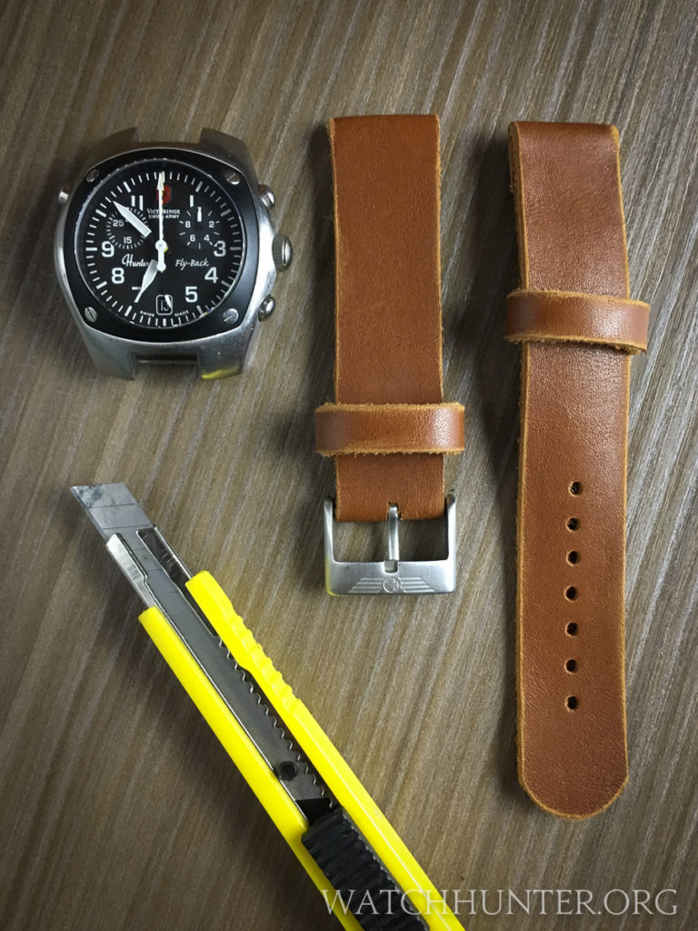 The eBay leather watch bands before they got altered...
