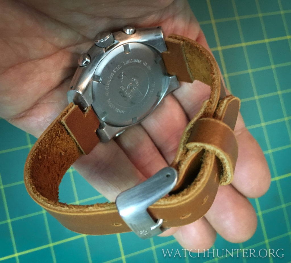 I think the homemade leather watchband gives the Hunter Mach 2 a completely different personality