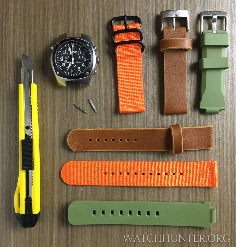 Some options to replace the Swiss Army Hunter watch bands in nylon, leather or rubber.