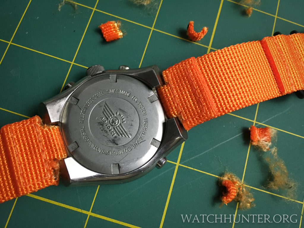 The back of the Hunter watch shows my hacked cutting job, but who is looking at that?
