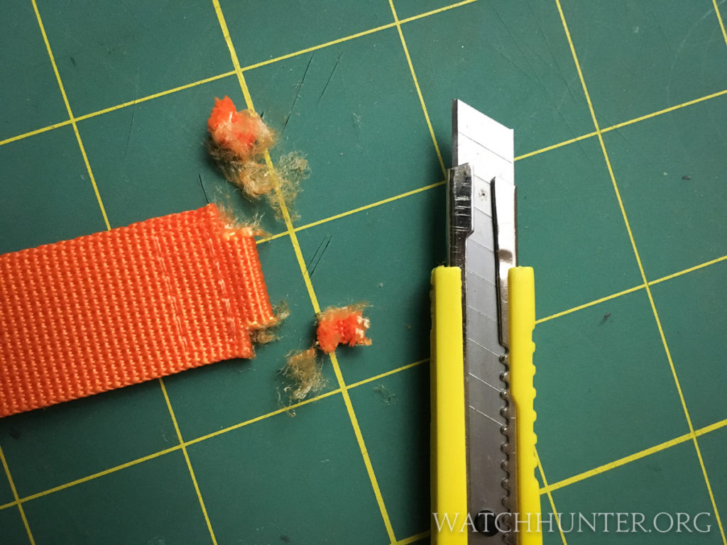 The razor made cleaner cuts than the snips but it was not a perfect tool for the job either.