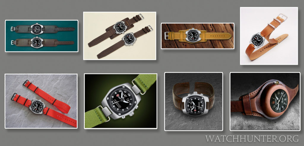 Digital concepts of replacement watch bands for Victorinox Swiss Army's Hunter watches...