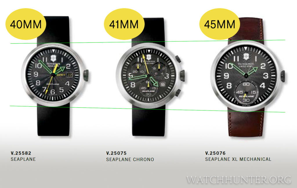 Victorinox Swiss Army SeaPlane watches was available in 3 sizes.