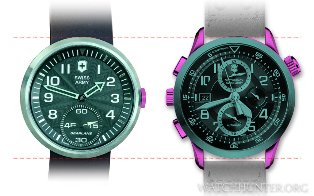 SeaPlane watches have no lugs, or large protrusions that make a watch wear on the large size