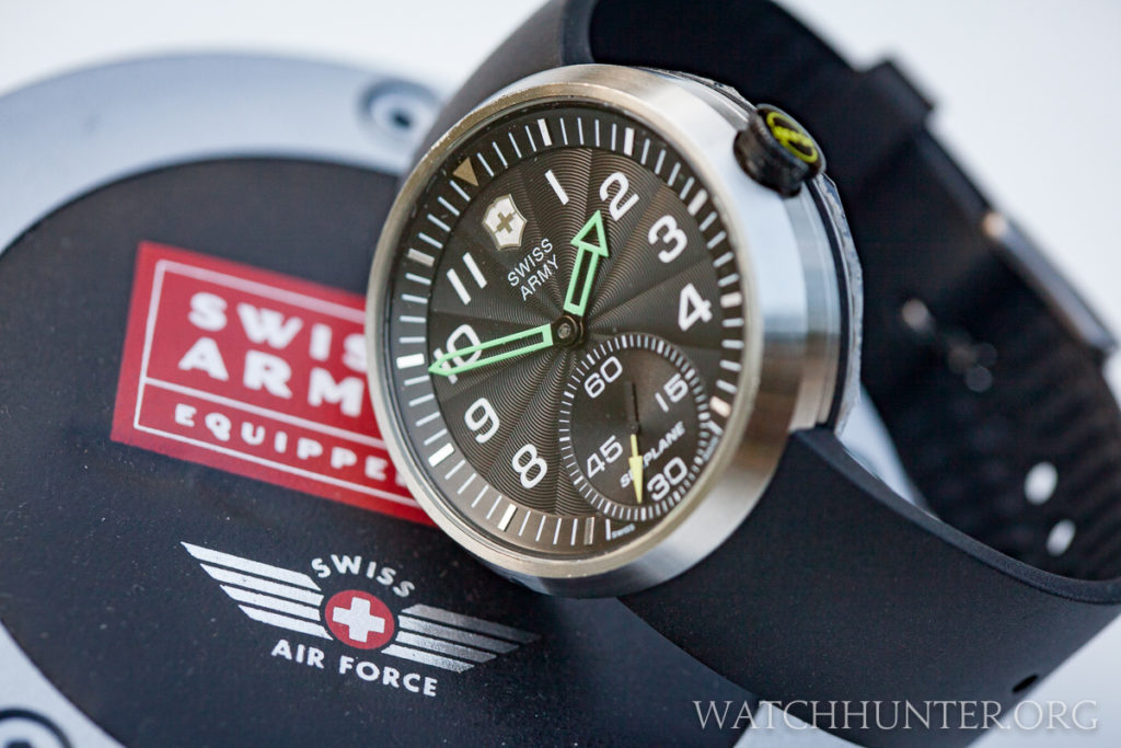 Swiss Army used the SeaPlane XL Mechanical as the starting point for the Yamaha MT-01 watch