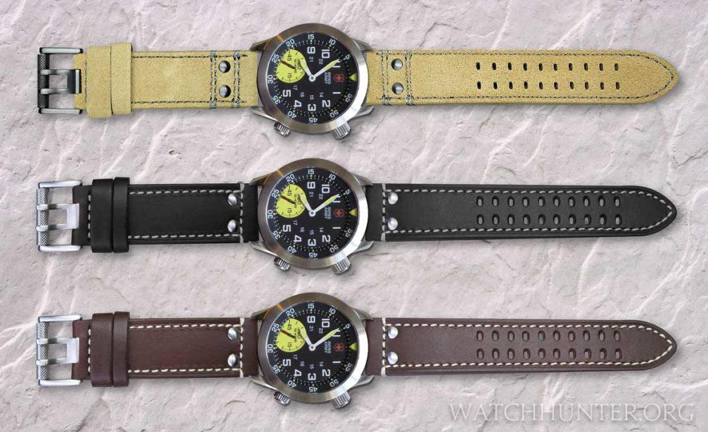 Digital mockups of my Victorinox Swiss Army Airboss Mach 4 Limited Edition on 23 mm Luminox watch bands