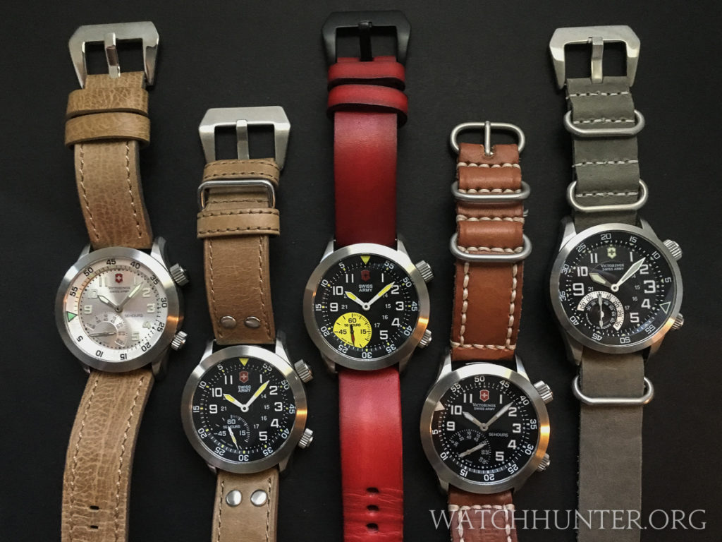The yellow dot of the limited edition Airboss Mach 4 really stands out from the rest of the Airboss Mach 4 watches