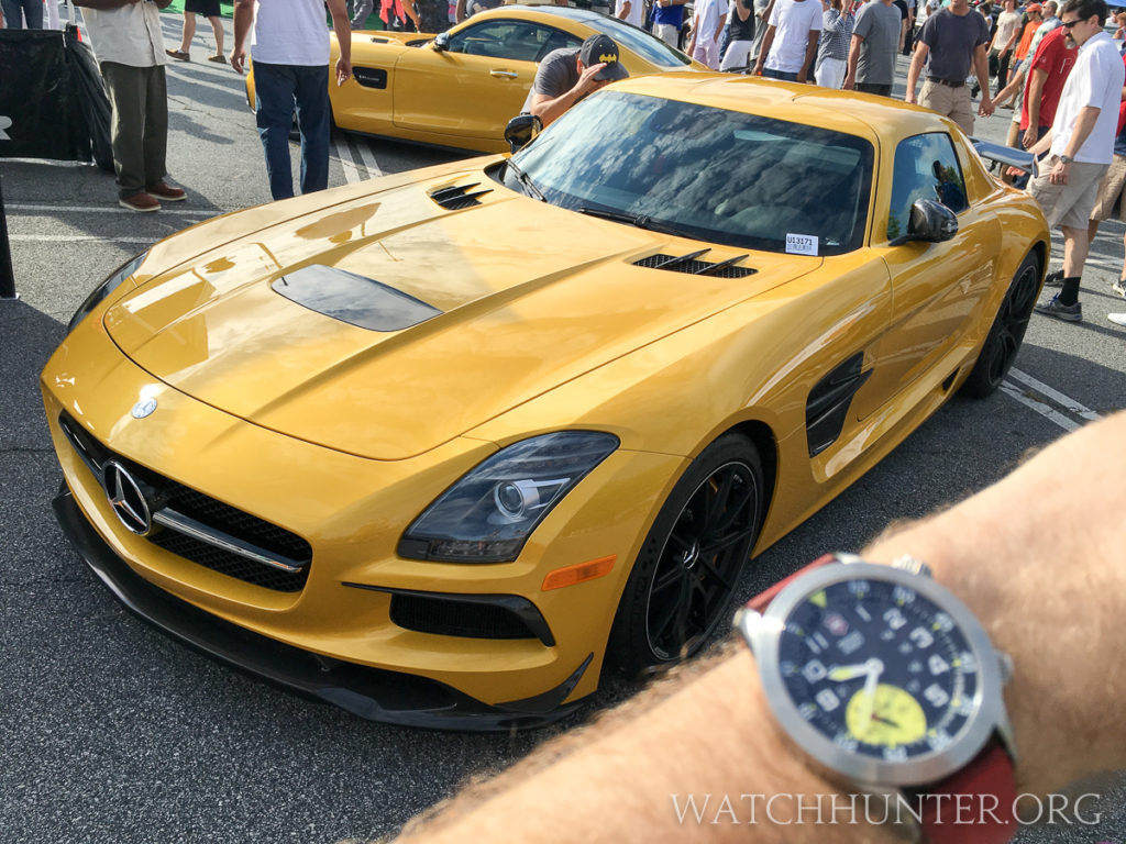 Mercedes SLS AMG is beast... with refinement, but no color match for my watch.